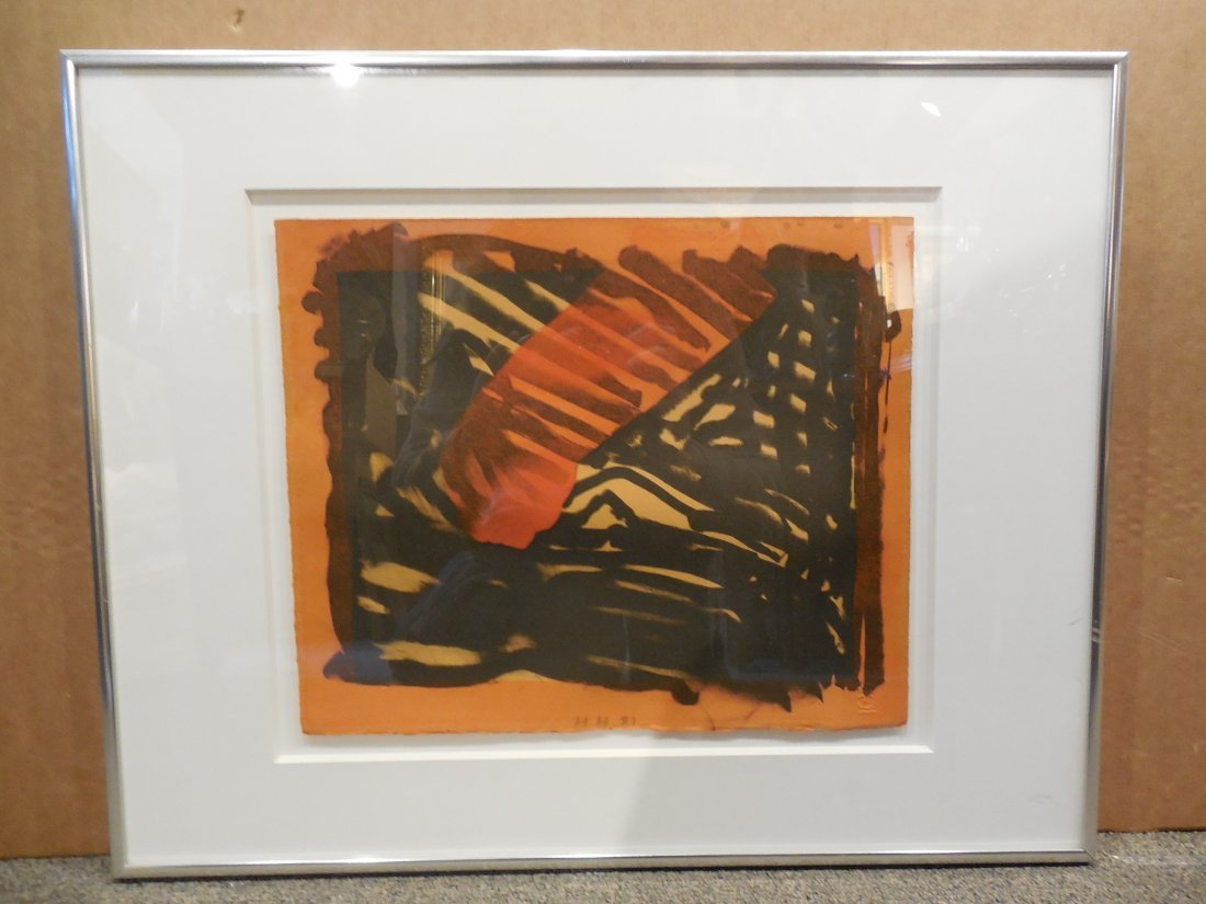 Red Eye Lithograph by Howard Hodgkin