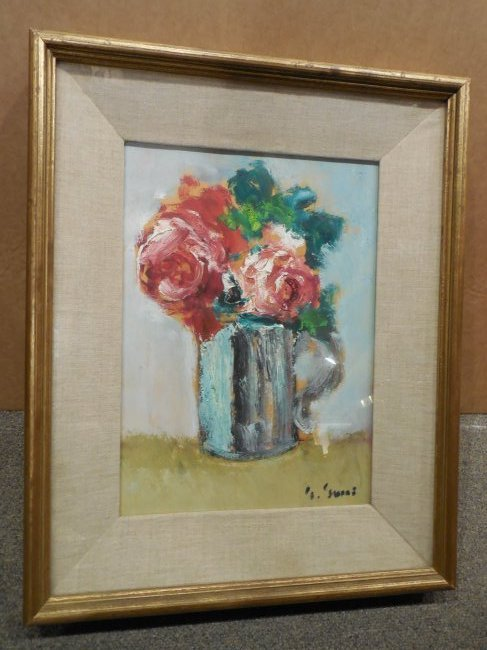 Post-Impressionist Still Life with Red Roses
