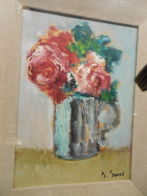 Post-Impressionist Still Life with Red Roses - 2