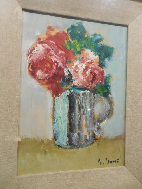 Post-Impressionist Still Life with Red Roses - 3