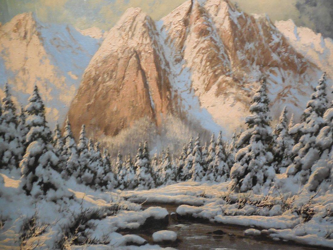 European Alpine Scene with Shell-Cornered Frame - 3