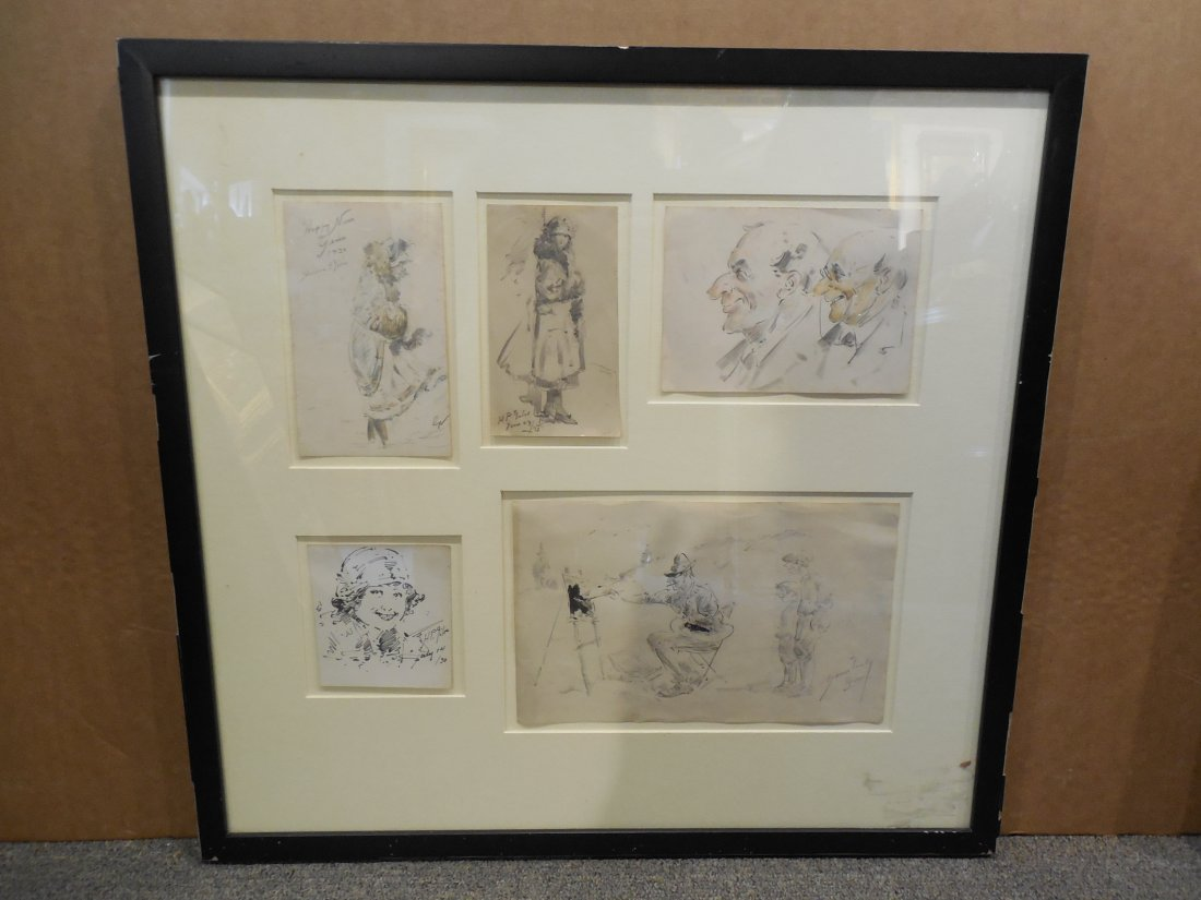Assortment of Drawings by H.P. Giles