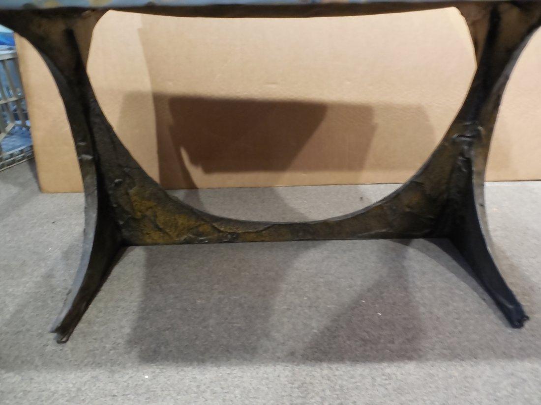 Signed Paul Evans Brutalist Bench - 8