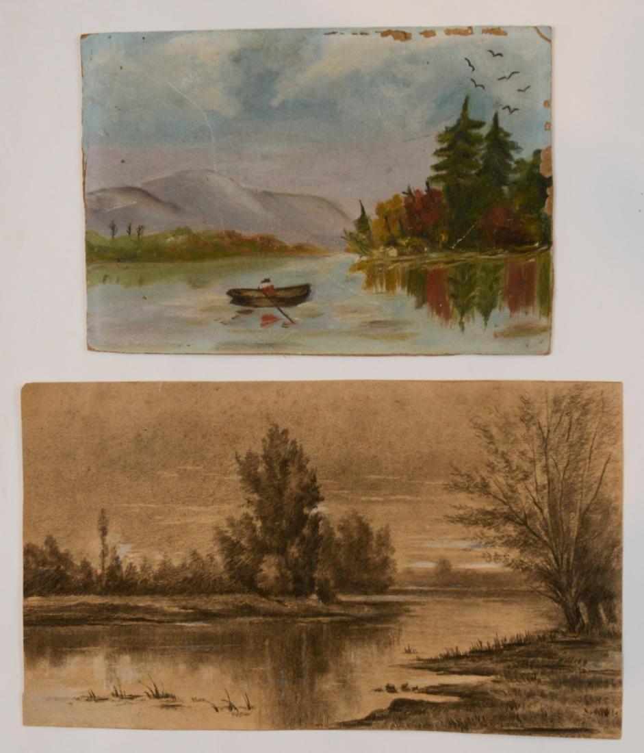 Two Small Primitive Landscape Scenes