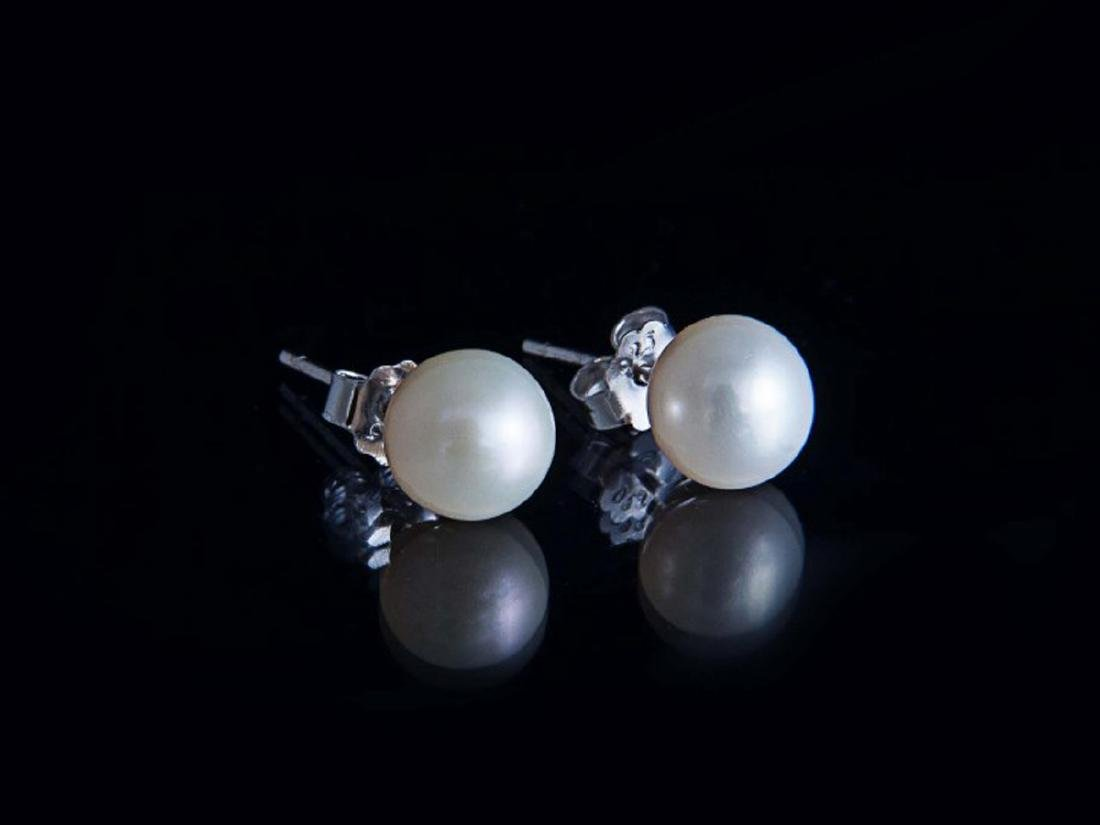Sterling silver cultivated pearl earrings