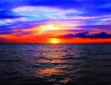 """17"""" X 22"""" OCEAN SUNSET FINE ART PRINT"""
