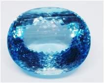 Blue Topaz Oval - Sky blue- 1 Pc - 121.98 cts