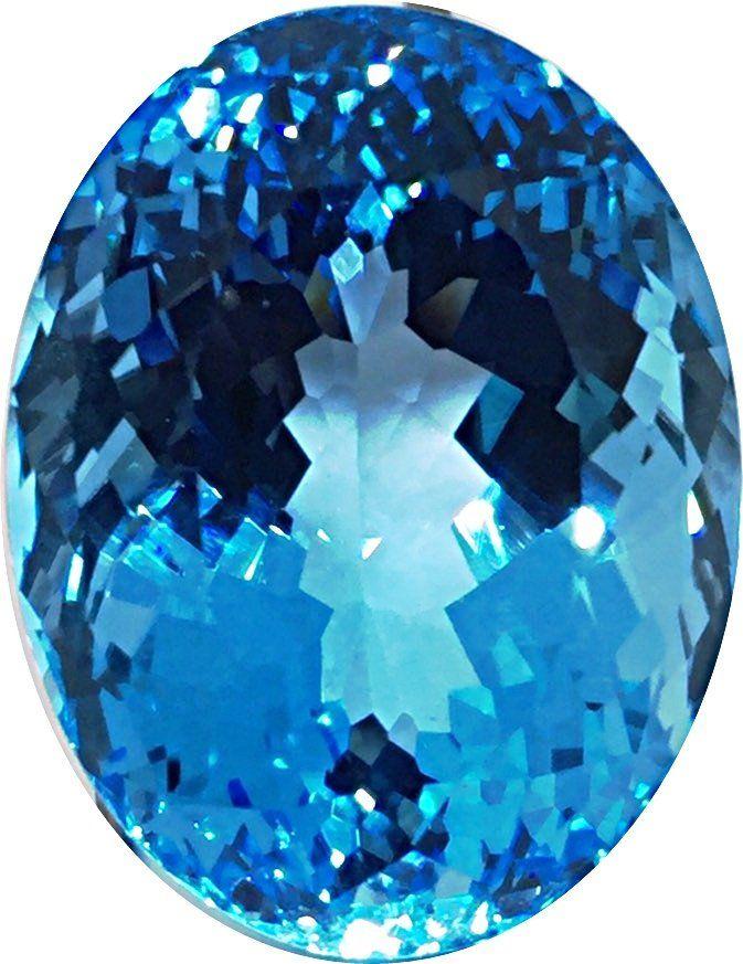 Blue Topaz Oval - Sky blue- 1 Pc - 87.23 cts