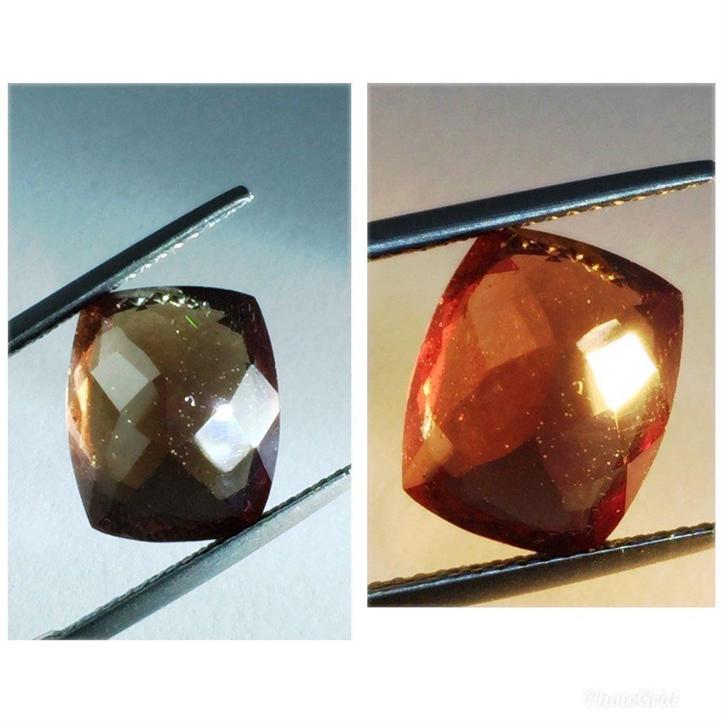 Natural Garnet Brown -Color Change (7.81 ct ) - 3