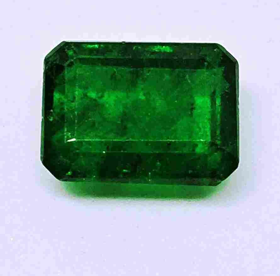 Natural Green Emerald- Emerald Cut Shape 4.44 ct