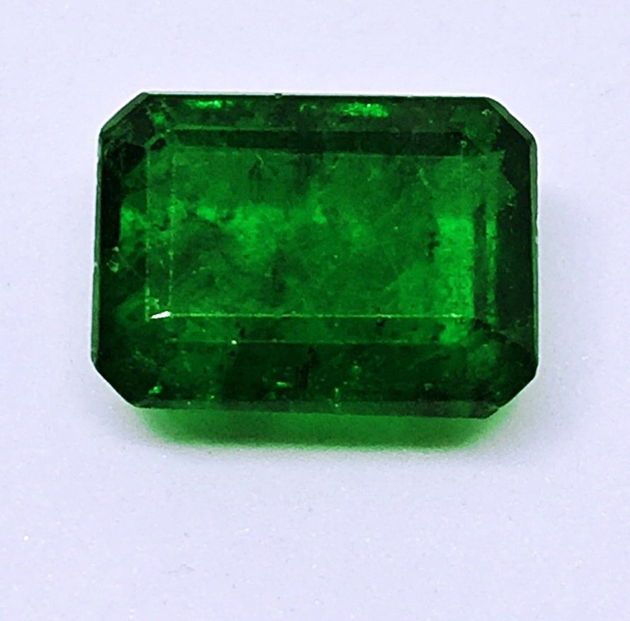 Natural Green Emerald- Emerald Cut Shape 4.44 ct