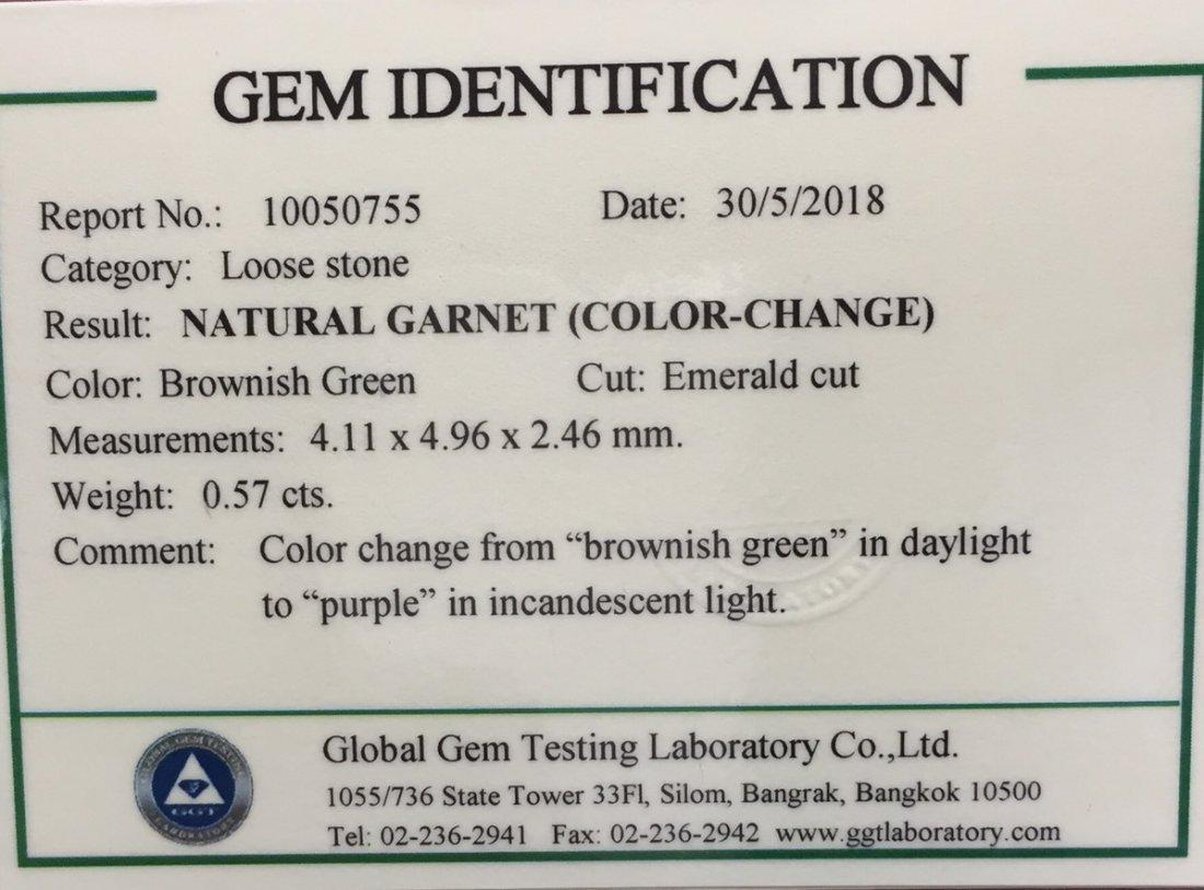 Natural Garnet - Color Change - 0.57 ct - 6