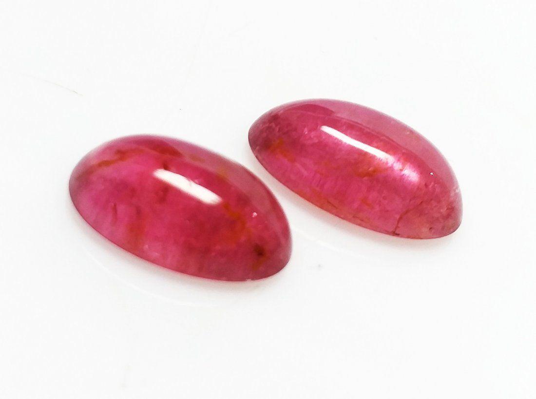 Rubelite Tourmaline- Oval - 12.35 ct. - Pink - 2 Pieces