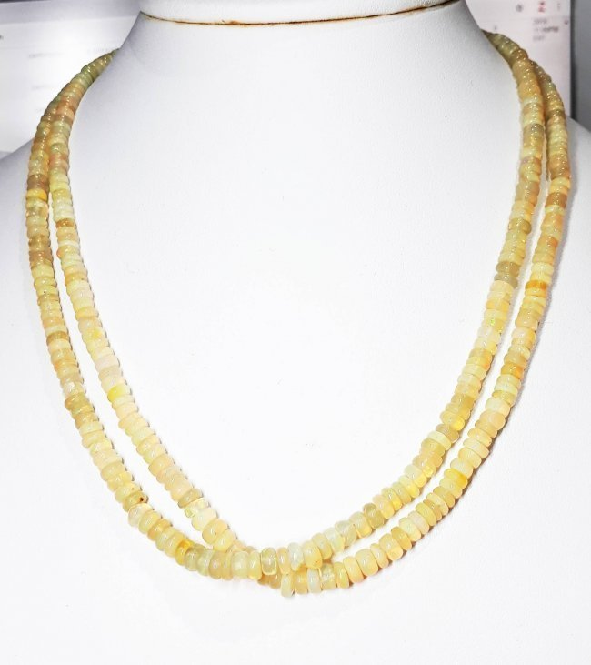 Natural Cabochon Opal Beads Necklace - 103.07 ct.