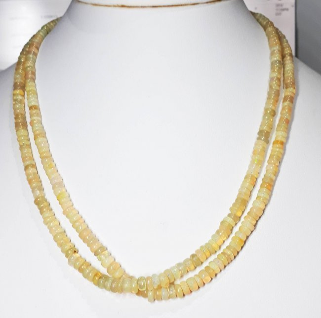 Natural Cabochon Opal Beads Necklace - 103.07 ct. - 2