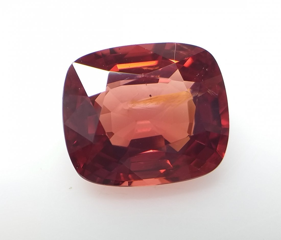 AIGS Certified Natural Spinel Orange-Red 3.32 ct.