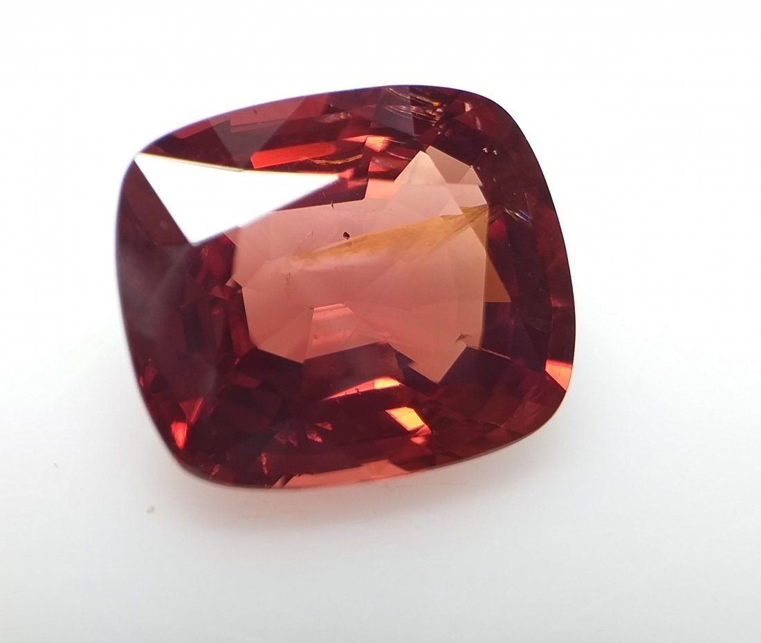 AIGS Certified Natural Spinel Orange-Red 3.32 ct. - 2
