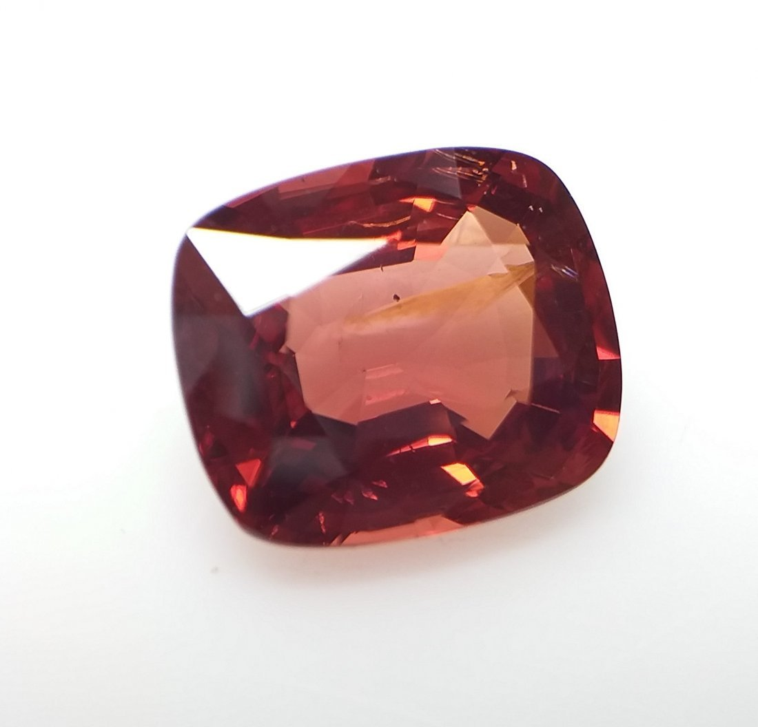 AIGS Certified Natural Spinel Orange-Red 3.32 ct. - 3