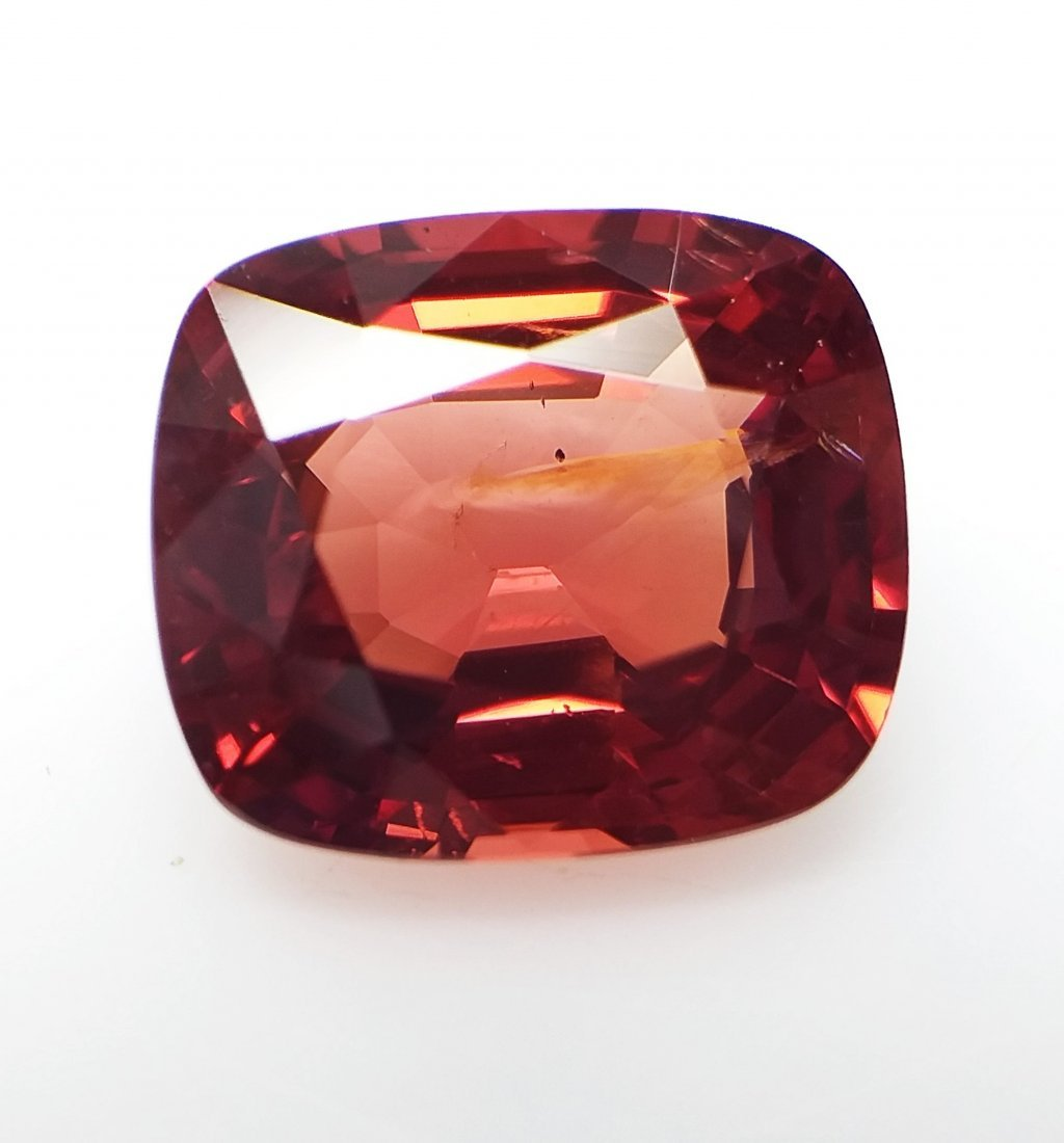 AIGS Certified Natural Spinel Orange-Red 3.32 ct. - 4