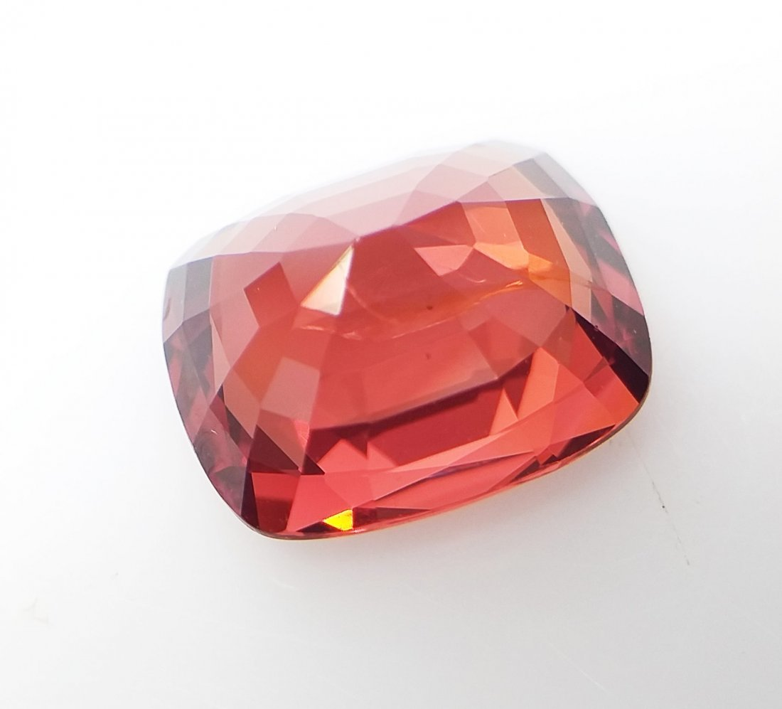 AIGS Certified Natural Spinel Orange-Red 3.32 ct. - 6