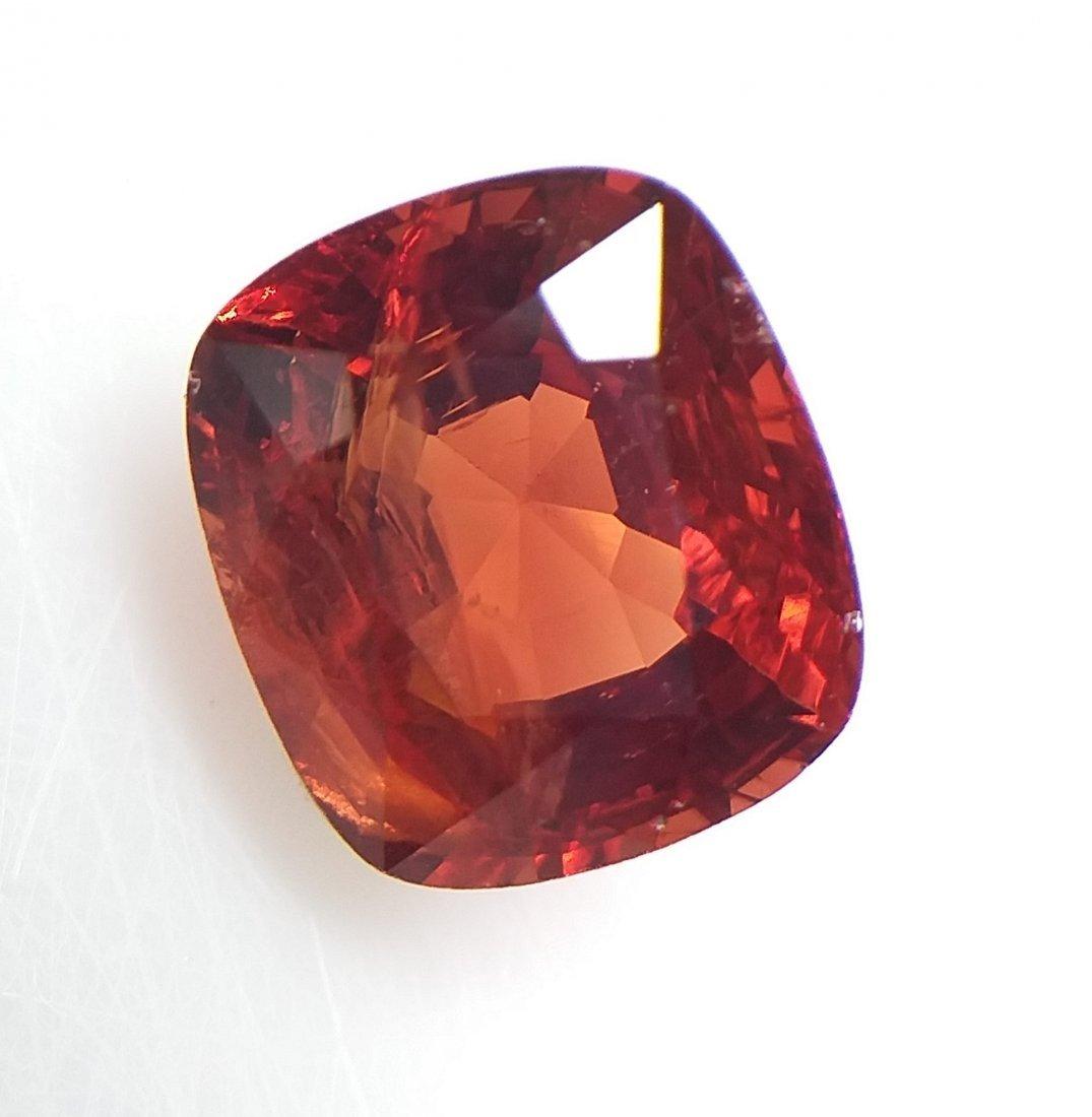 Spinel 2.56 ct. - Orange-Red - Cushion -  Natural - 2