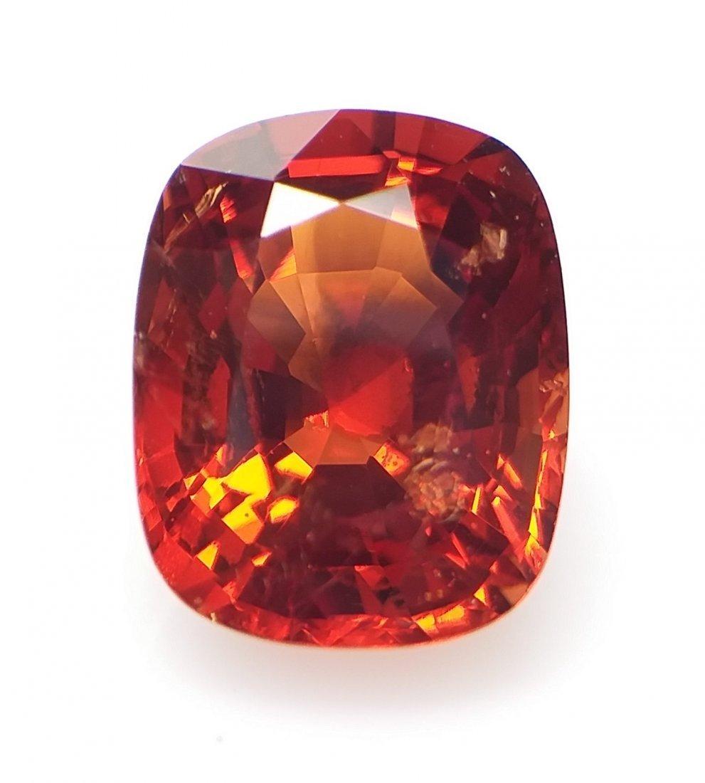 Spinel 2.75 ct. - Orange-Red - Cushion -  Natural - 2