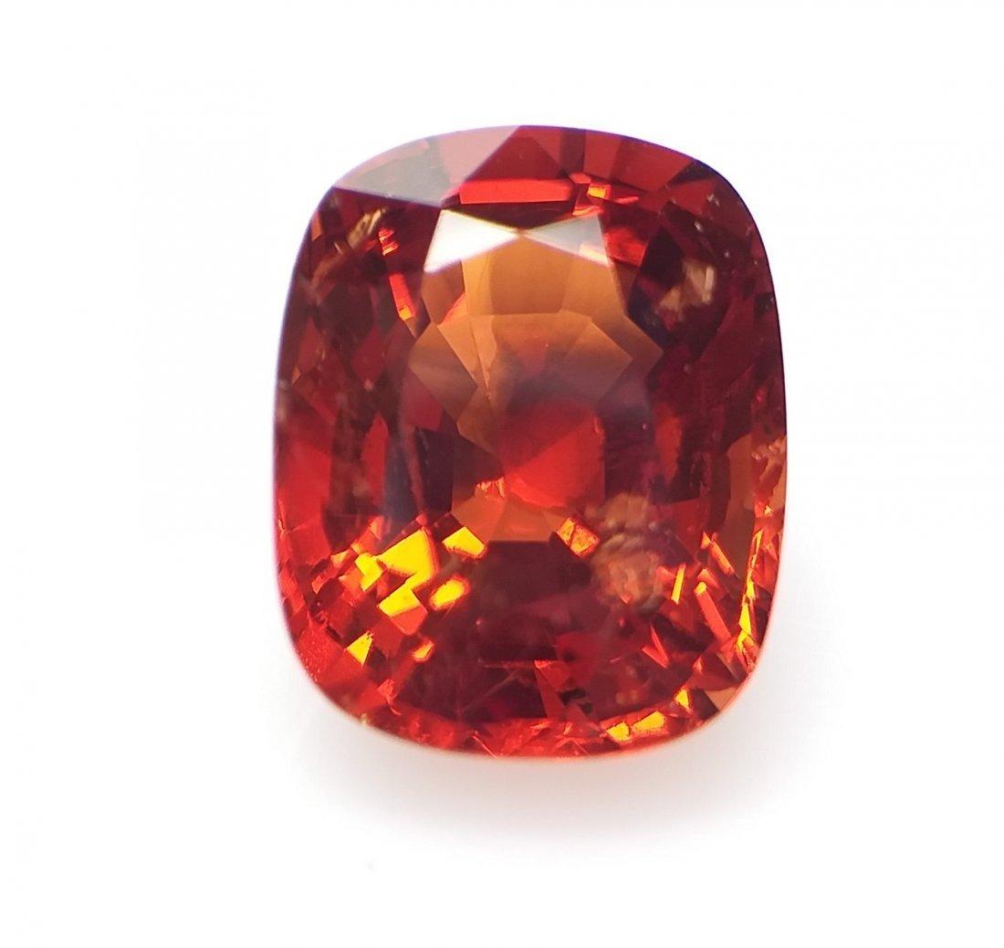 Spinel 2.75 ct. - Orange-Red - Cushion -  Natural - 3
