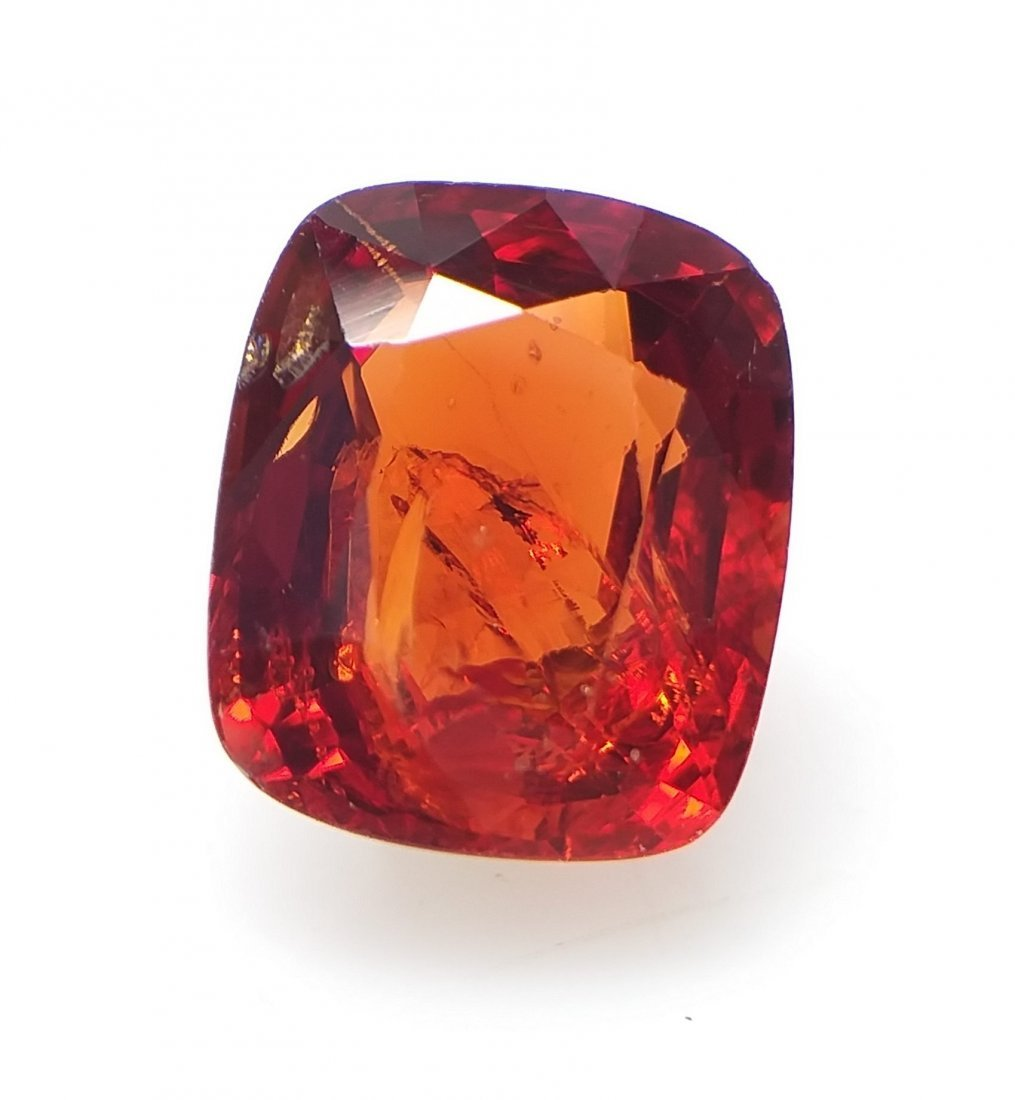 Spinel 1.87 ct. - Orange-Red - Cushion -  Natural