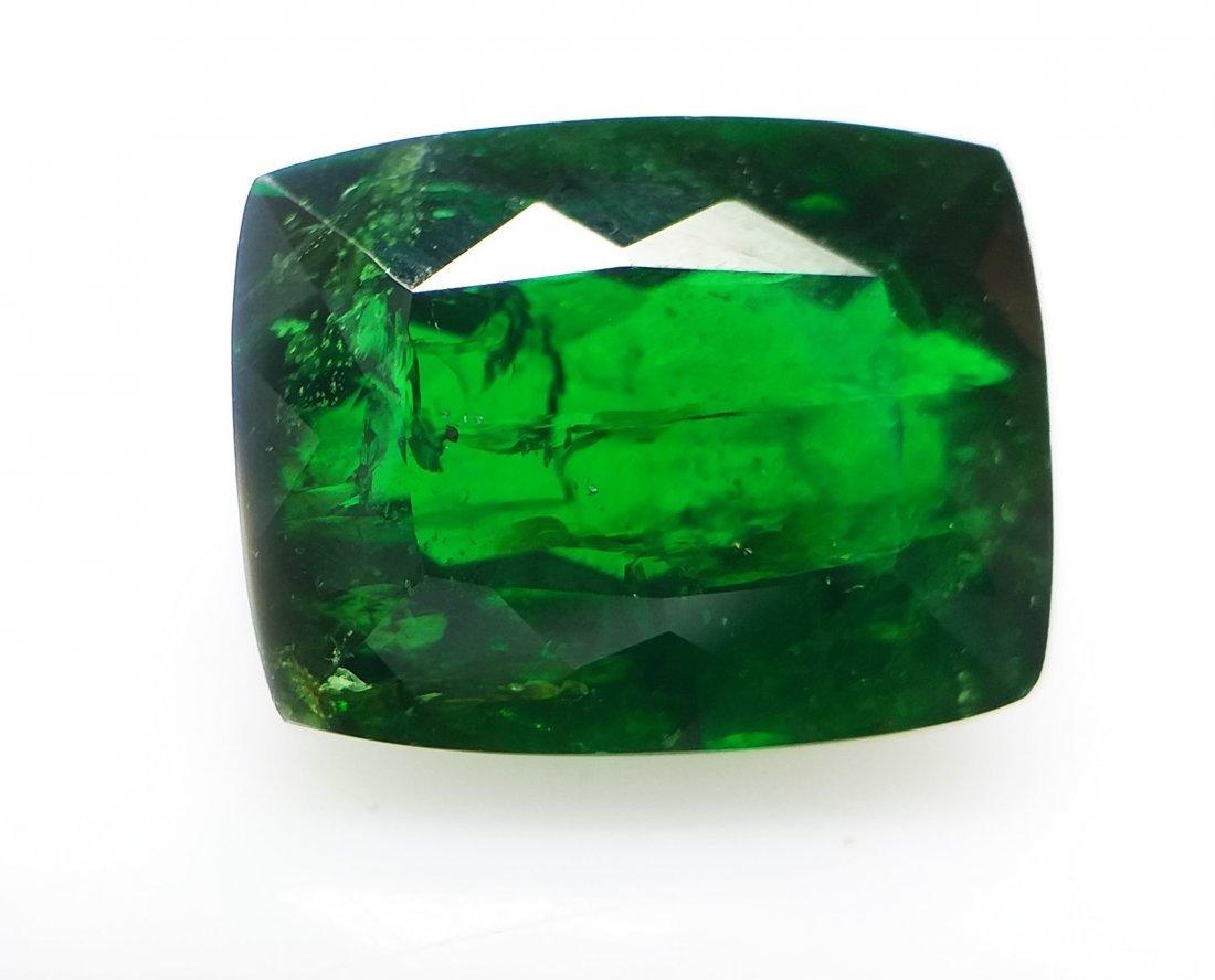 Tsavorite Garnet 4.56 ct. -Green - Cushion -  Natural