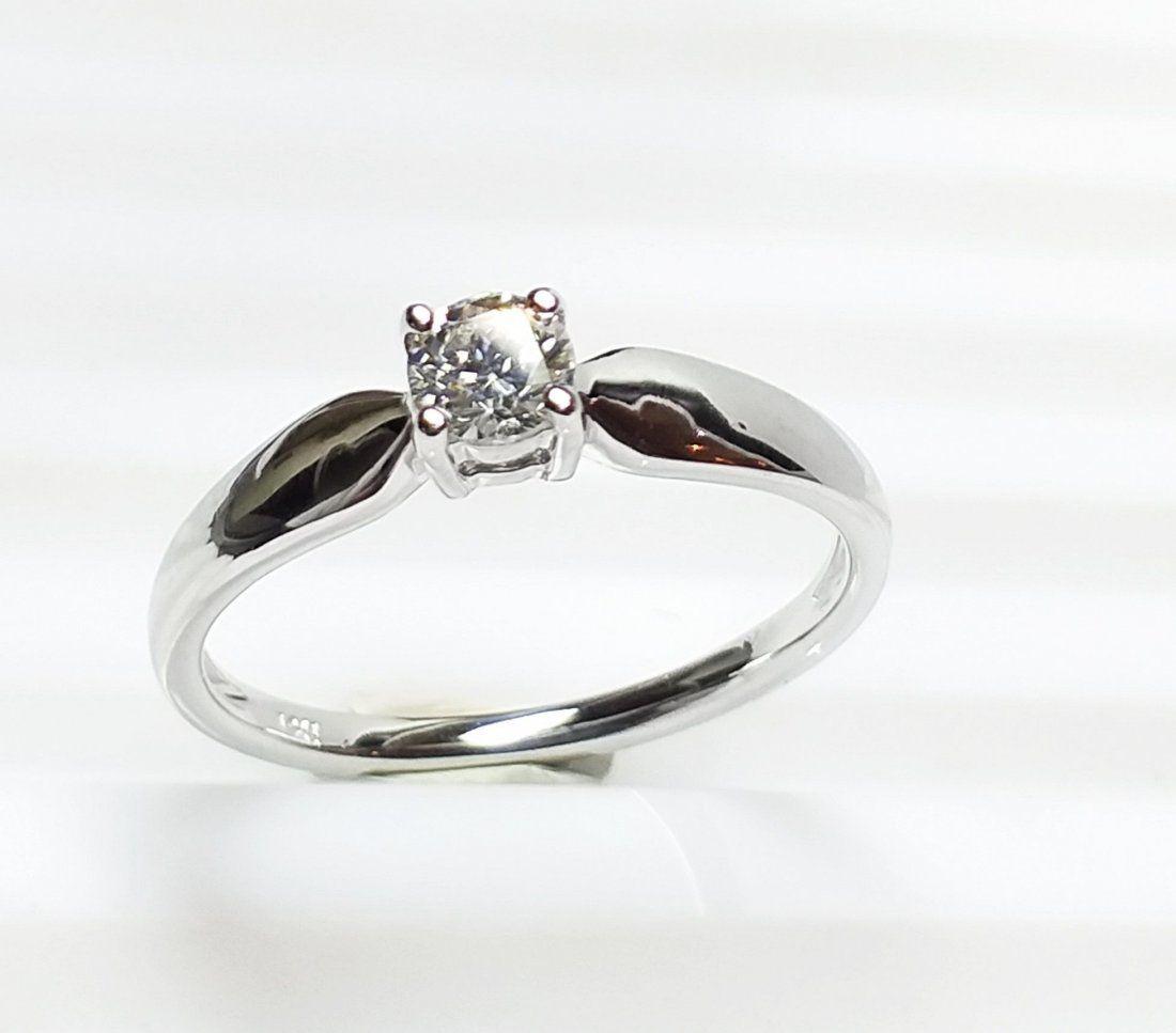 14 K White Gold & Diamond Ring