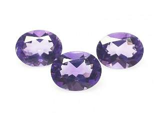 Natural Purple Amethyst 3 Pieces 697 ct