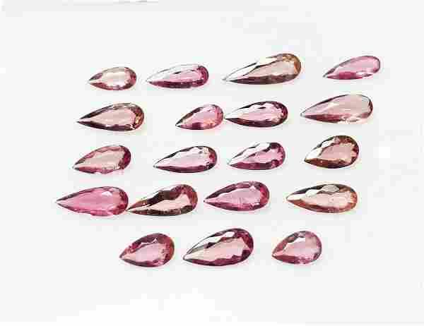 Natural Rubelite Tourmaline - 19 Pieces - 8.27 ct.