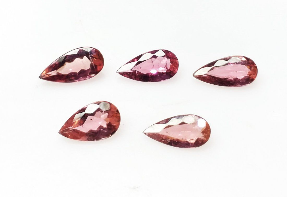 Natural Rubelite Tourmaline - 5 Pieces - 5.29 ct.
