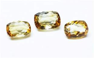 Natural Yellow Citrine 3 Pieces 757 ct