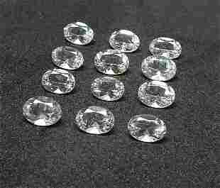 Natural Morganite 944 ct 12 Pieces Oval White