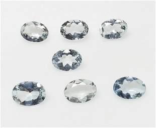 Natural Aquamarine 425 ct 7 Pieces Oval Blue