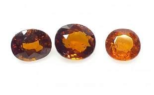 Hazenite Garnet 574 ct Red Mixed 3 Pieces