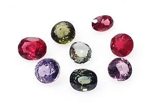 Spinel 226 ct Mixed Color Oval 8 Pieces