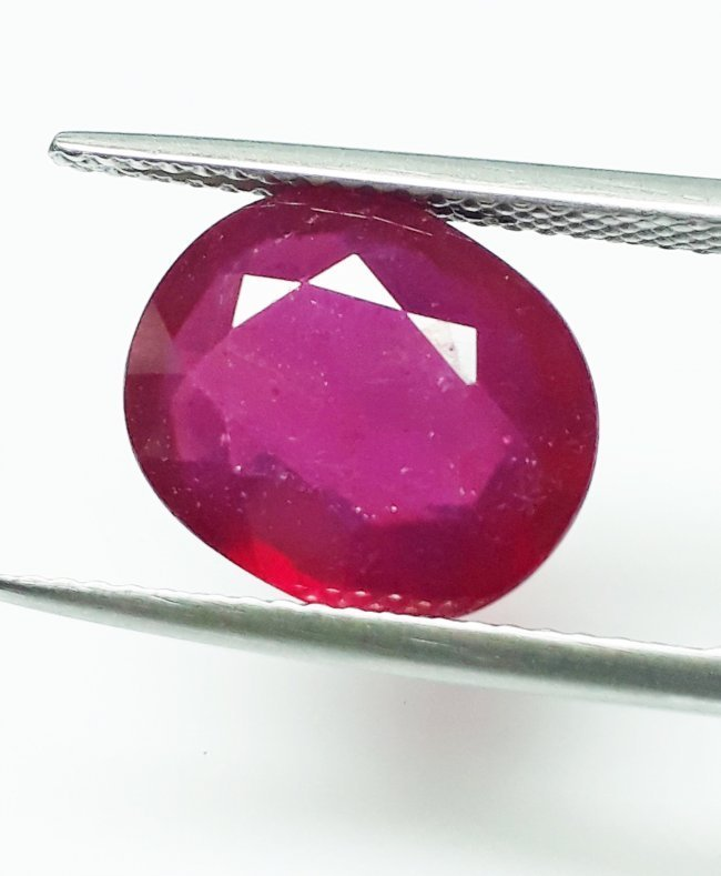 Natural Mozambique Ruby Oval - 5.62 ct.