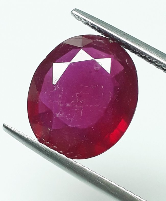 Natural Mozambique Ruby Oval - 5.87 ct.