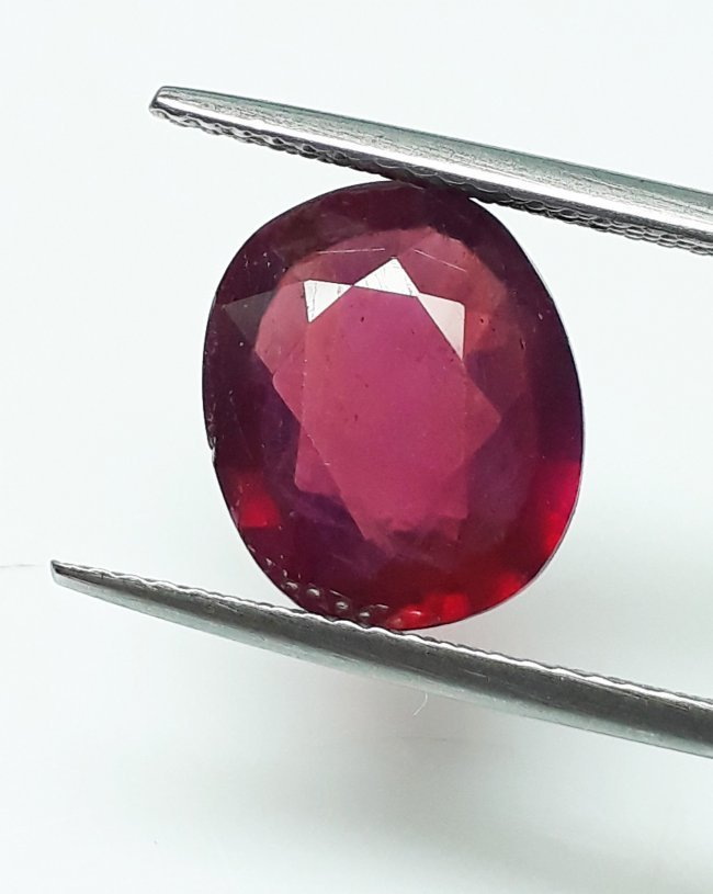 Natural Mozambique Ruby Oval - 4.98 ct.