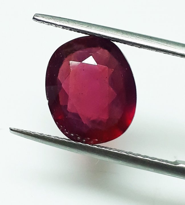 Natural Mozambique Ruby Oval - 4.98 ct. - 3
