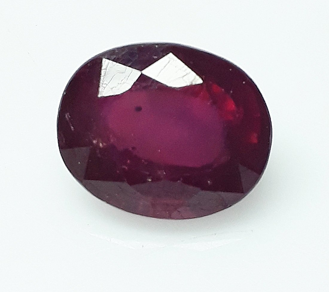 Natural Mozambique Ruby Oval - 3.86 ct.