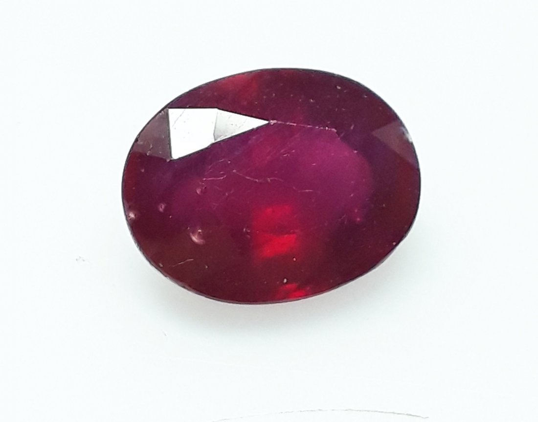 Natural Mozambique Ruby Oval - 4.67 ct. - 2