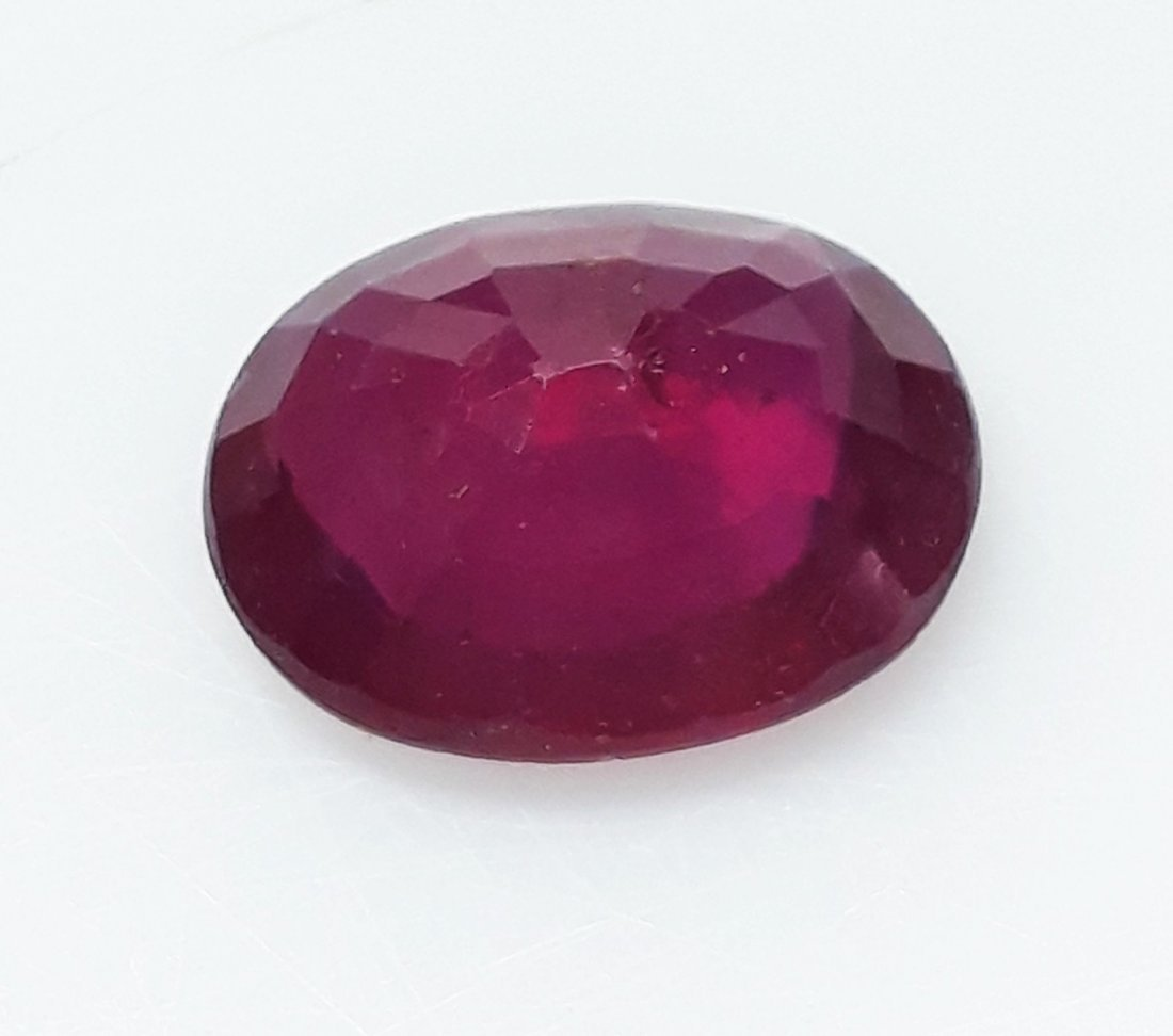 Natural Mozambique Ruby Oval - 3.40 ct. - 4