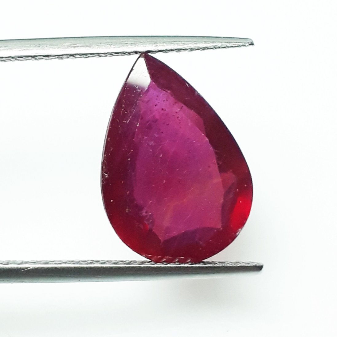 Natural Mozambique Ruby Pear - 6.08 ct. - 2