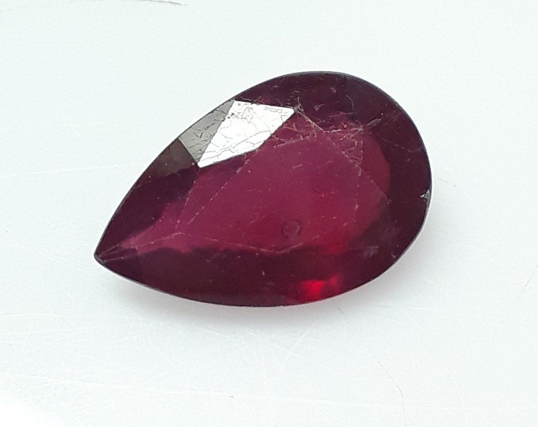 Natural Mozambique Ruby Pear - 5.04 ct.