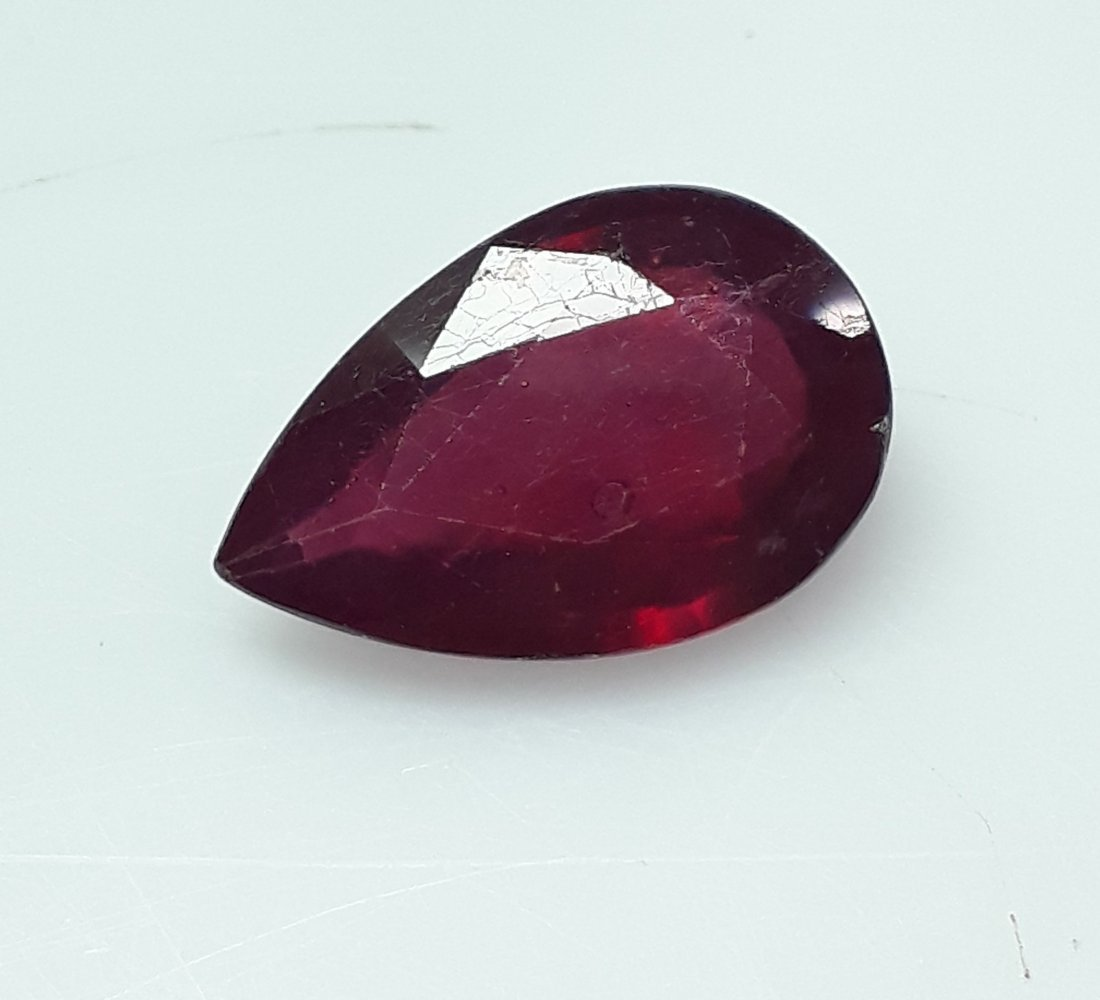Natural Mozambique Ruby Pear - 5.04 ct. - 3