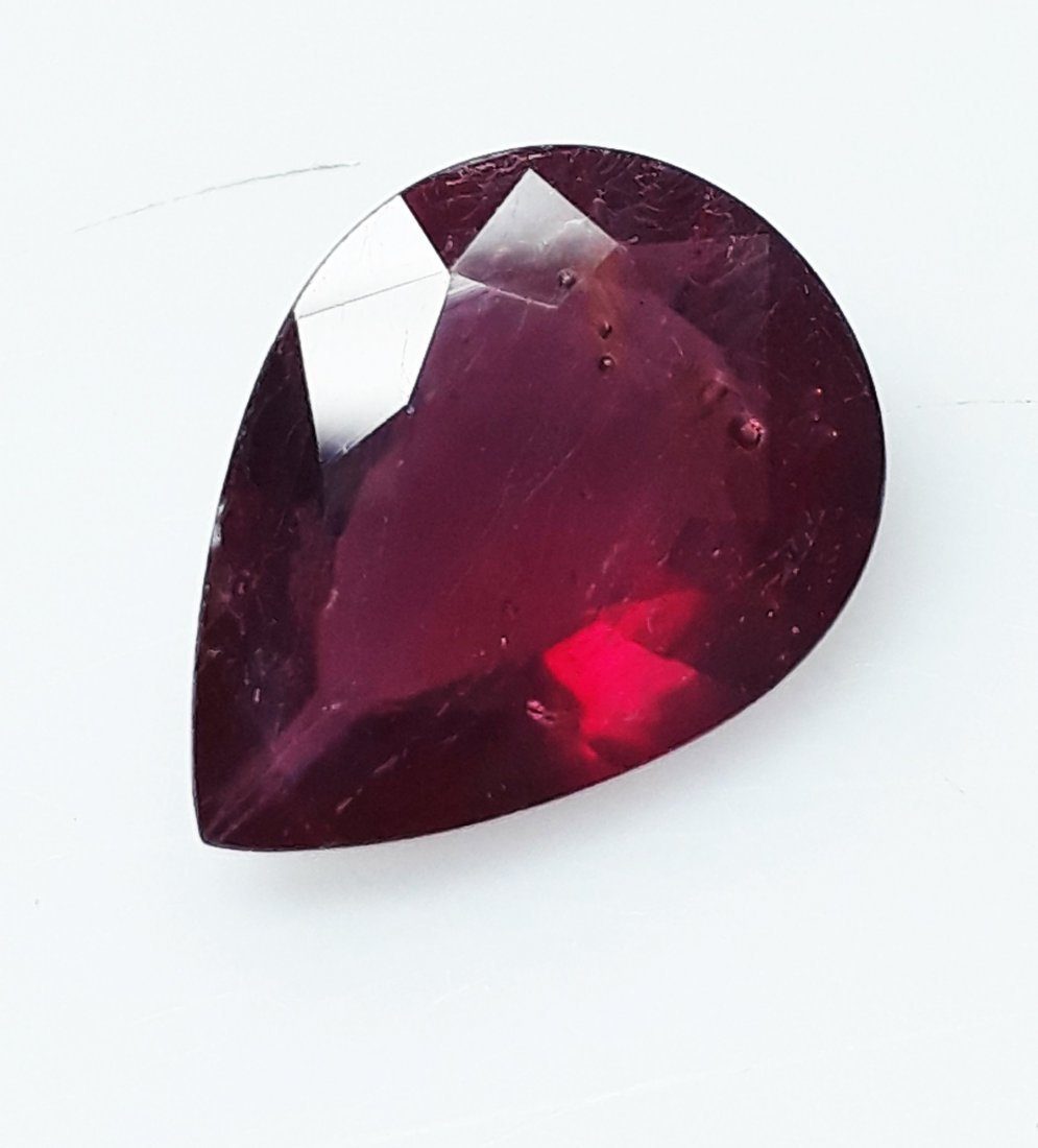 Natural Mozambique Ruby Pear - 4.45 ct. - 4