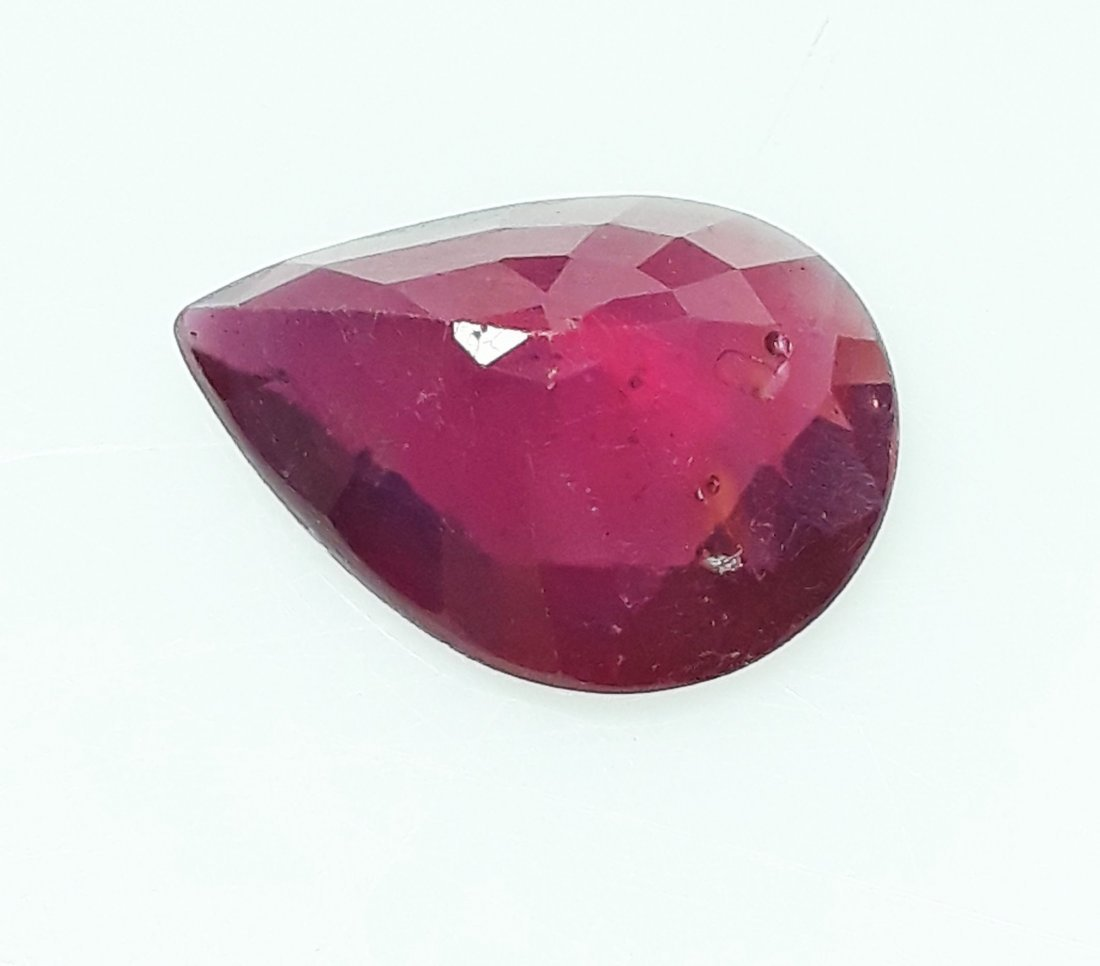 Natural Mozambique Ruby Pear - 4.45 ct. - 5